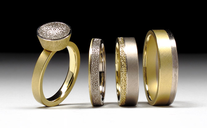 Geoffrey D. Giles a collection of gold commitment rings